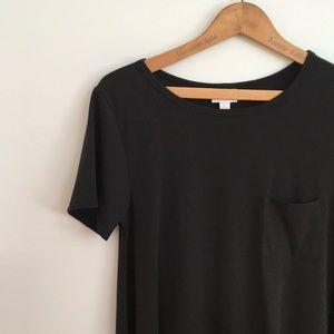NWT Lularoe Black Carly Tee Shirt Dress Small Noir